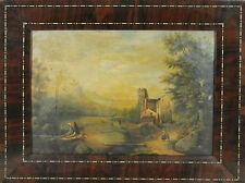 D1-005. PAYSAGE RURAL. HUILE SUR METAL. ÉCOLE HOLLANDAISE. CENTURY XVIII-XIX.