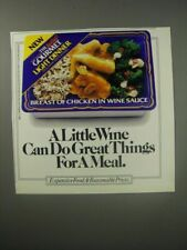 1990 The Budget Gourmet Light Breast of chicken in Wine Sauce Ad