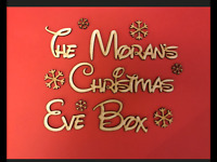 "Personalised ""Christmas Eve Box"" Snowflake Topper, Craft Sign, Plaque."