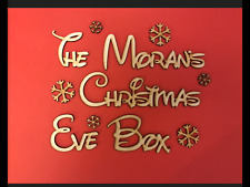 "Personalised Disney ""Christmas Eve Box"" Snowflake Topper, Craft Sign, Plaque."
