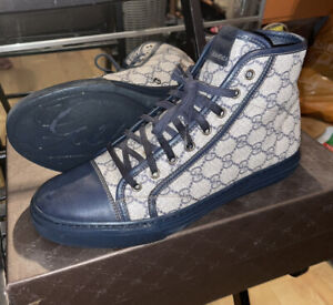 Mens Gucci High Top Trainers - Size 7.5 (with Original Box)