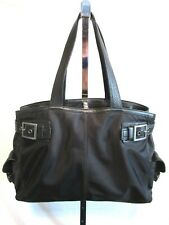 Banana Republic Lrg Black Nylon, Leather Laptop Business Shoulder Tote Handbag