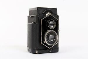"Vintage ~ ""Zeiss-Ikon"" ""Ikoflex""(?) ""Coffee Can"" Camera ~ ""Novar"" Lens     #1552"