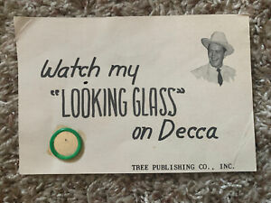 Country 45 Red Foley - Looking Glass On Decca Records Promotional Letter