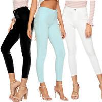 Women Skinny Slim Fit Denim High Waist Jeggings Trousers Leggings Stretchy Jeans