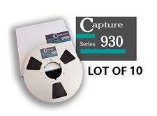 """LOT OF(10) CAPTURE SERIES 930 TAPE REEL TO REEL 1/4"""" X3600' 10.5"""" METAL RTM RMGI"""