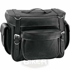 Borsa posteriore sissy schienalino bar portapacchi moto custom Harley Bike Pak