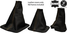 TAN STITCH FOR LANDROVER DISCOVERY MK1 MK2  96-2004 3 x LEATHER GAITERS SET