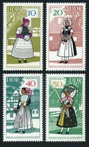 Germany-GDR 992-995,MNH.Michel 1353-1356. Sorbian regional costumes,1968.