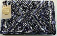 Accessorize - CLEO BEADED CLUTCH BAG - Navy Mix (Brand New With Tag) One size