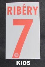 FC Bayern München KIDS Size RIBERY Kinder-Flock für adidas Away Trikot 2008-2009