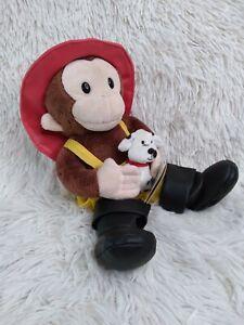 New!! CURIOUS GEORGE Plush BROWN MONKEY FIREMAN Stuffed Animal Dalmation Dog NWT