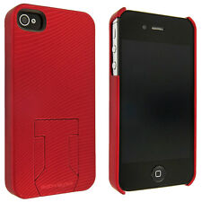 Body Glove Red Soft Touch Back Cover Case with Stand for iPhone 4 / 4S