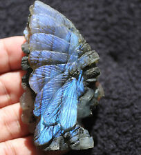 77mm Blue Gold Flash  Labradorite  Crystal Carving
