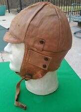 WW1 US Air Service Pilots Flight Helmet Depot mkd
