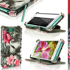 PU Leather Flip Case for Sony Xperia Z3 Compact D5803 Stand Book Folio Cover Pink on Black Floral