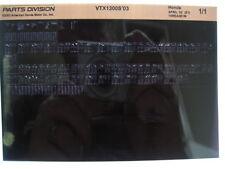 Honda VTX1300 VTX1300S 2003 Parts List Manual Catalog Microfiche a446