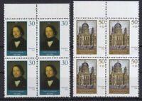 DDR 1990 postfrisch 4er Block MiNr. 3358-3359  Wiederaufbau der Neuen Synagoge