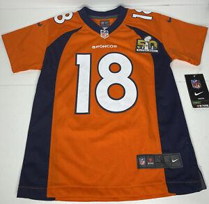 Nike On Field Denver Broncos Super Bowl XLVIII Jersey Manning #18 Size Youth S