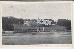 WICKENS POSTCARD ; ANGLESEY CASTLE FROM THE MENAI STRAITS - P/M DUPLEX 1904