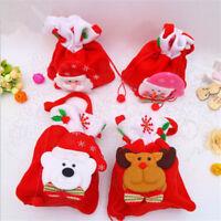 Christmas Santa Claus Candy Bag Handbag Party Decor Gift Bag Xmas Supply Shan