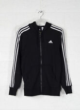 Adidas Essentials 3 Stripes Full-zip French Terry Felpa Uomo Nero/bianco S