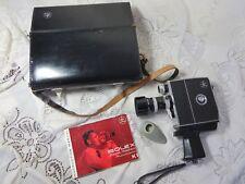 Vintage Bolex Paillard Zoom Reflex Automatic K1 Movie Camera & Case & Manuals