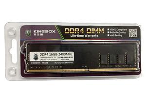 Kingbox 16GB (1x16GB) 16G 2400MHz DDR4 288Pin CL17-17-17-39 Desktop RAM Memory