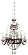 Minka Lavery 3136-167B 5-Light 1-Tier Mini Chandelier - Deep Lathan Bronze