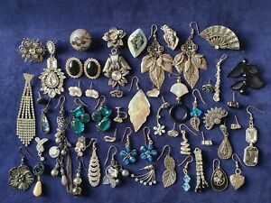 Vintage Modern Style Costume Jewellery Diamante Odd & Pairs Earrings Joblot 💐