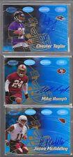 2002 Bowman's Best - MIKE RUMPH - Gold Autograph Rookie - 49ers #d 21/99