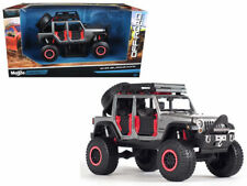 MAISTO 1/24 OFF-ROAD KINGS 2015 Jeep Wrangler Unlimited DIECAST CAR 32523 GREY