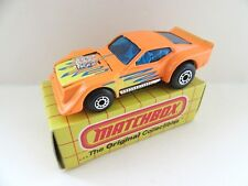 Matchbox Superfast 11e IMSA Mustang - ORANGE w/flames - Mint/Boxed