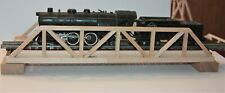 "S Gauge handmade wood open top truss bridge 18"" long for American Flyer etc.."