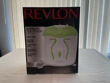 Revlon Bubbling Toe-Touch Foot Spa Smart Heat Easy Change Settings + More NIB