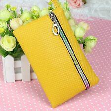 Women PU Purse Wristlet Zipper Wallet Bag Phone Key Case Makeup Bag Coin Purse