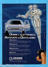 QUATTROR988-PUBBLICITA'/ADVERTISING-1988- GEMINI - ANTIFURTO ELETTRONICO