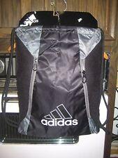 Adidas Lightning Sackpack Black/Grey Gym Bag Backpack 5133582 NWT