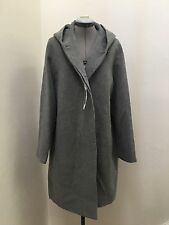 NWT UNIQLO WOMEN WOOL BLEND BIG SILHOUETTE HOODED COAT GRAY SIZE XL