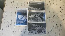 4 Vintage Unsent RPPC VIEWS OF SHASTA DAM, Redding CA