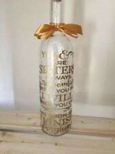 You & I Are Sisters Always Remember Light Up Novelty Wine Bottle Gift Funny