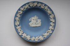 "Wedgwood Jasperware Pale Blue Cupid Sleeping  Pin Dish 4.5"" Diameter."