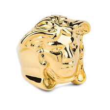Versace Medusa Ring Men's Hip Hop Brass Gold plated Heavy Size US 8 EU18