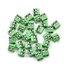 Wholesale 30Pcs PCB Screw Terminal Block 2 Pole 5mm Pin Pitch 8A 250V