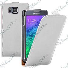 Etui Coque Housse Pu Vrai Cuir BLANC Samsung Galaxy Alpha/ Galaxy Alfa SM-G850FQ