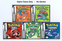 Pokemon 3rd Generation + Remake Custom Cases *NO GAMES* (Game Boy Advance GBA)