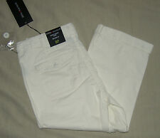8P ~ intro ~ relaxed fit ~ cotton stretch capri ~ cream ~ petite ~ NwoT