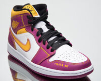 Air Jordan 1 Mid Day Of The Dead Men's White University Gold Lifestyle Sneakers