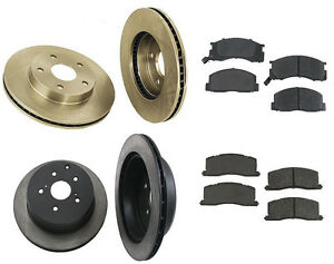 For Toyota Previa L4 2.4L Complete Brake Kit w/ Rotors & Semi Metallic Pads