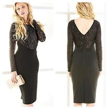 Oli @ Kaleidoscope Size 10 Black Lace Top Bodycon DRESS Party Xmas Occasion £48